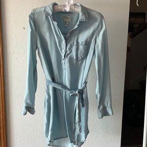 Premium Denim Long Sleeve Forever 21 Dress